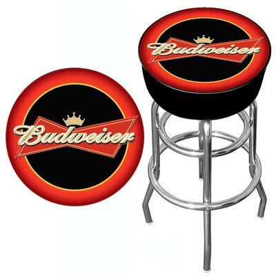 Trademark Global Budweiser Bowtie Bar Stool in Red / Black