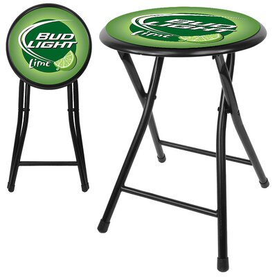 "Trademark Global 18"" Bud Light Lime Cushioned Folding Stool"