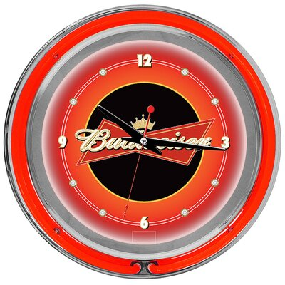 Trademark Global Budweiser Double Ring Neon Wall Clock