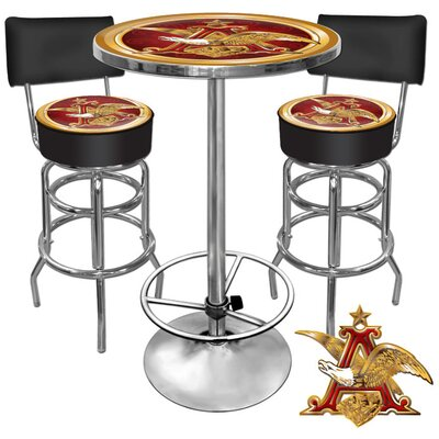 Trademark Global A and Eagle 3 Piece Pub Table Set