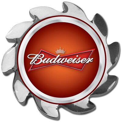 Trademark Global Budweiser Spinner Card Cover in Silver