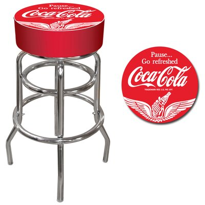 Trademark Global Wings Coca Cola Pub Stool