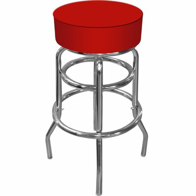 Trademark Global High Grade Padded Bar Stool in Red