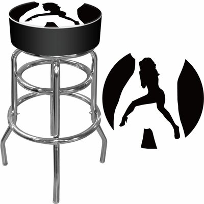 "Trademark Global 30"" Shadow Babes - C Series - High Grade Swivel Bar Stool with Cushion"