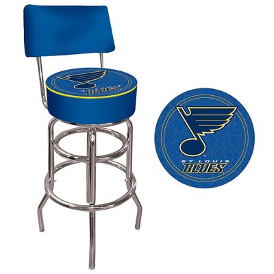 NHL Swivel Bar Stool with Cushion