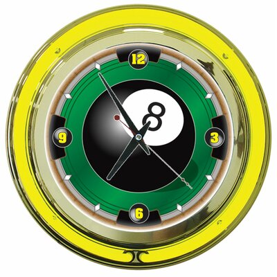 "Trademark Global 14"" 8 Ball Wall Clock"