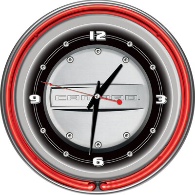 "Trademark Global Camaro 14"" Double Ring Neon Clock"