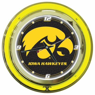 "Trademark Global University of Iowa 14"" Neon Clock"