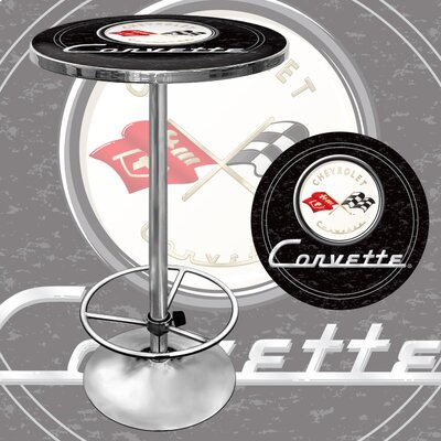 Trademark Global Corvette C1 Pub Table in Black