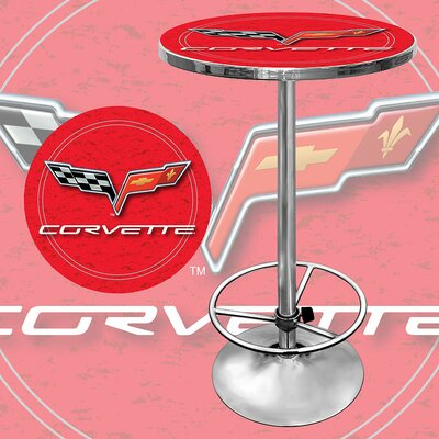 Trademark Global Corvette C6 Pub Table in Red