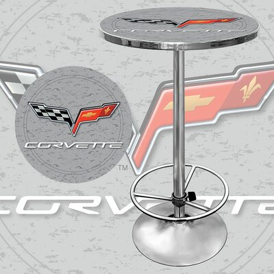 Trademark Global Corvette C6 Pub Table in Silver