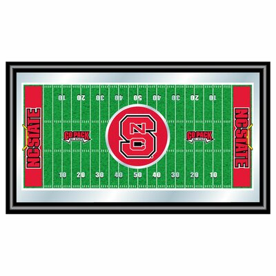 NCAA Football Field Framed Mirror