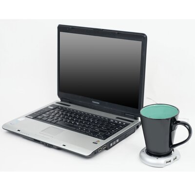 Trademark Global USB Powered Beverage Warmer with Four Port Hub