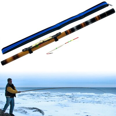 Trademark Global Gone Fishing 12 Foot Telescoping Fishing Pole