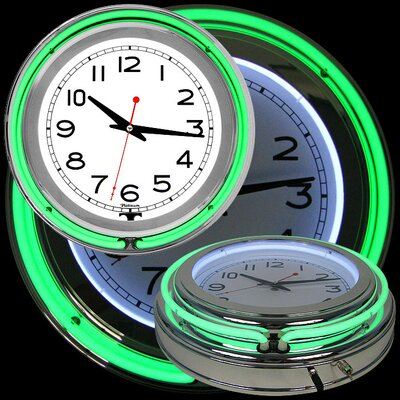 "Trademark Global 14"" Double Ring Neon Wall Clock"
