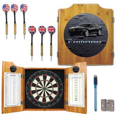 Trademark Global Black Camaro Dart Cabinet in Medium Wood