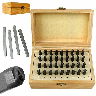 36 Piece Premium Grade Letter and Number Stamping Set