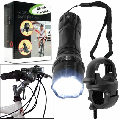 Trademark Global Super Bright 14 LED Flashlight with Bicycle Clip