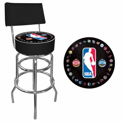 Trademark Global NBA Padded Swivel Back Bar Stool