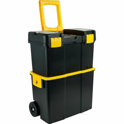 Trademark Global Stackable Mobile Tool Box with Wheels