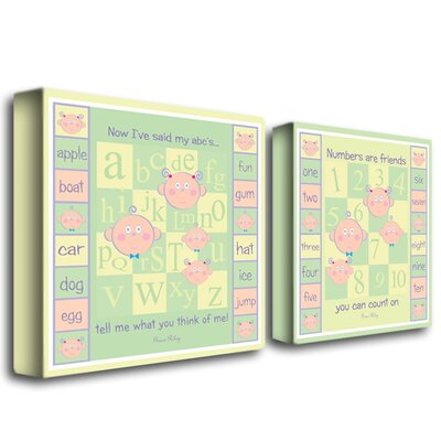 ABC's and 123's by Grace Riley Canvas Art (Set of 2)