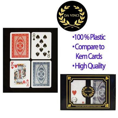 Trademark Global Da Vinci Neve Poker 2 Deck Set