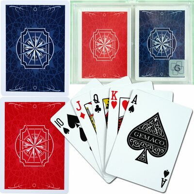 Trademark Global Gemaco 100% Plastic Playing Cards - 2 Decks