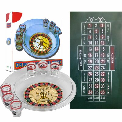 Trademark Global The Spins Roulette Drinking Game and Layout
