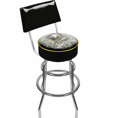 "Trademark Global 41.75"" U.S. Army Digital Camo Padded Swivel Bar Stool"