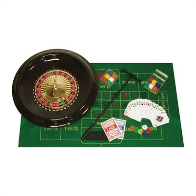 "Trademark Global 16"" Deluxe Roulette Set with Accessories"
