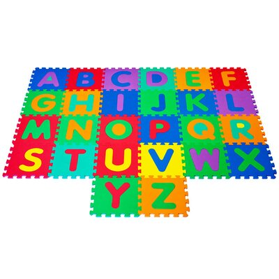 Trademark Global Foam Floor Alphabet Puzzles Mat