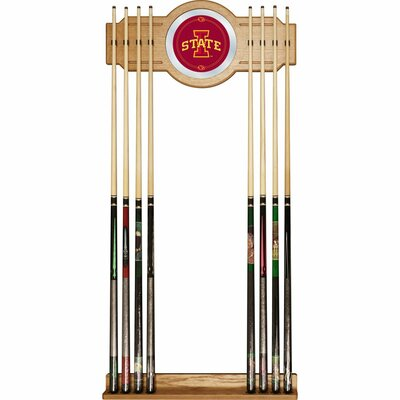 Trademark Global NCAA Wood and Mirror Wall Cue Rack