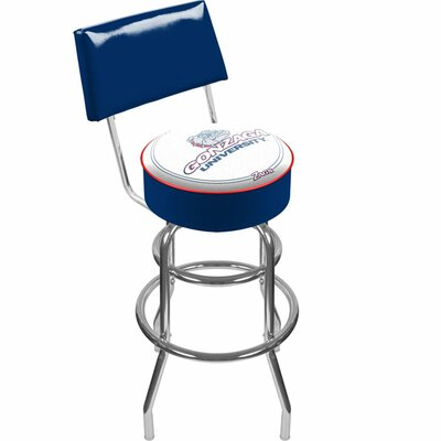 Trademark Global NCAA Swivel Bar Stoo with Cushion