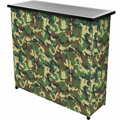 Trademark Global Hunt Camo 2 Shelf Portable Bar with Case