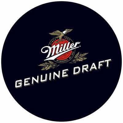 Trademark Global Ultimate Miller Genuine Draft 3 Piece Pub Table Set