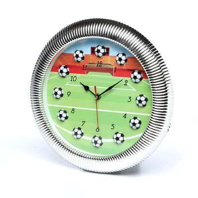 Trademark Global Quartz Movement Soccer Wall Clock