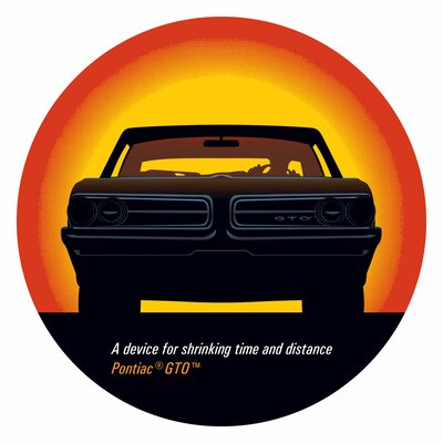 Trademark Global Pontiac GTO Time and Distance Pub Table