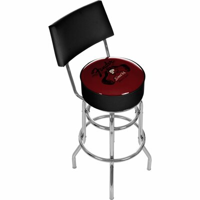 Fender Top Hat Hot Rod Padded Barstool with Back