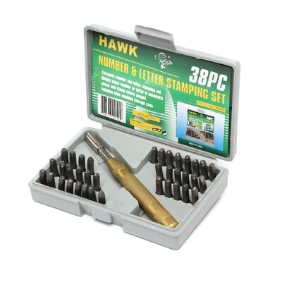 <strong>Trademark Global</strong> 38 Piece Deluxe Number and Letter Metal Stamping Set