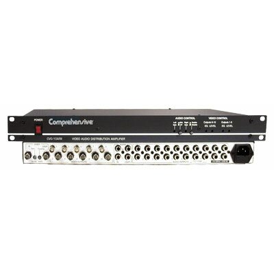 Comprehensive 360 MHz Distribution Amplifier for 1 x 10 Composite Video and Stereo Audio DA