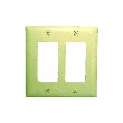 Comprehensive Double Gang Decora Wall Plate Cover in Ivory