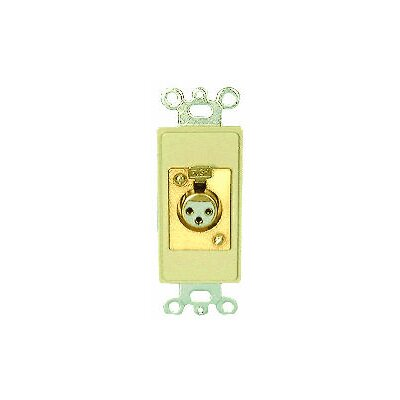 Comprehensive Single Gang Decora Wall Plate in Ivory ( x LRF-Solder)