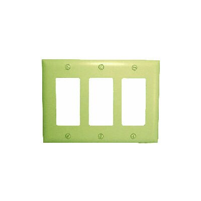 Comprehensive Triple Gang Decora Wall Plate Cover in Ivory