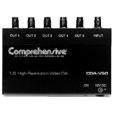Comprehensive 1 x 5 Composite Video Distribution Amplifier BNC