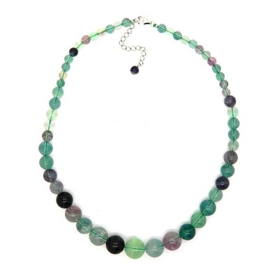 Pearlz Ocean Journey Sterling Silver Flourite Bead Necklace