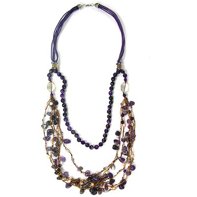 Fashion Amethyst Bib Necklace