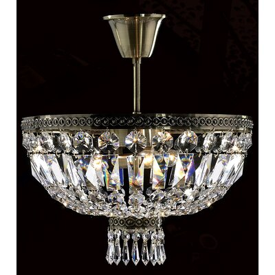 Metropolitan 3 Light Semi Flush Mount