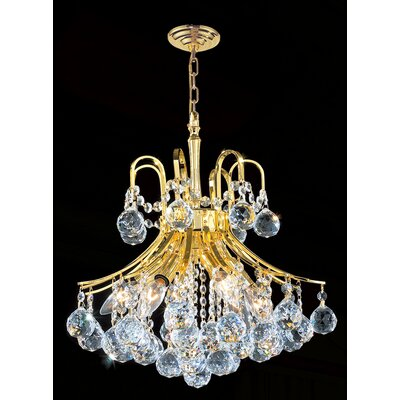 Worldwide Lighting Empire 6 Light Chandelier