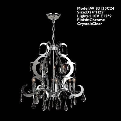 Henna 9 Light Crystal Chandelier