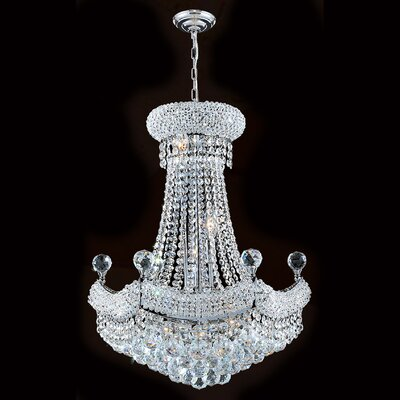Empire 12 Light Crystal Chandelier